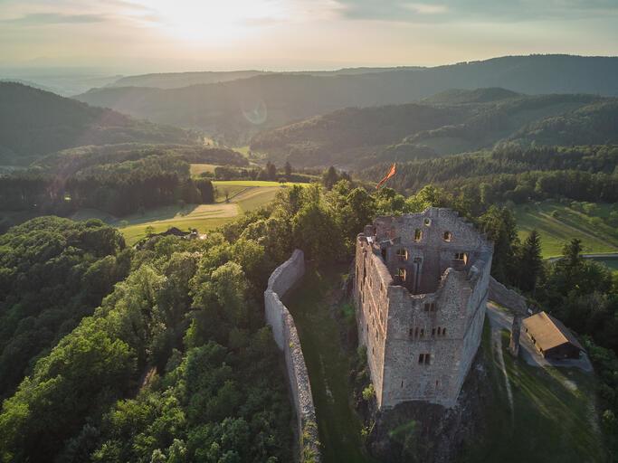 Burg im Schwarzwald